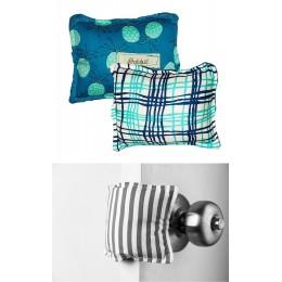 The Cushy Closer Door Cushion- BLUE FLORAL WITH CHECKS