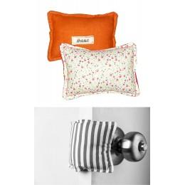 The Cushy Closer Door Cushion- ORANGE FLORA