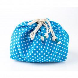WASHABLE BABY TRAVEL KIT - BLUE WHITE POLKA