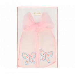 Butterflies Bow Hair Clip