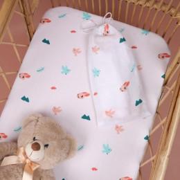 Cute Bunny Organic Crib Sheet