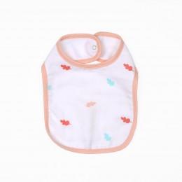 Cute Bunny Organic Round Bibs - 2 pack