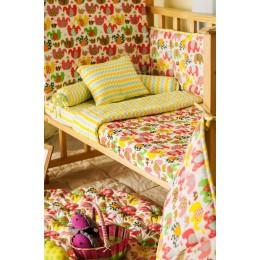 Elephant Parade Hand Printed crib bedding set with Dohar Blanket