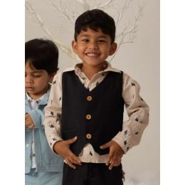 Aden Waistcoat Black