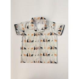 Miles Cat Print Shirt