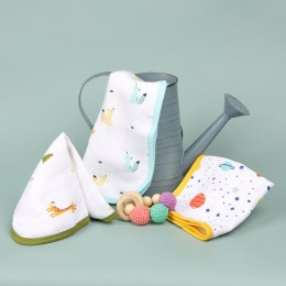 Friends in Galaxy Reversible Organic Wash Cloth - 3 pack
