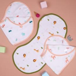Fun in Forest Reversible Organic Burp Cloth Bibs - 3 pack