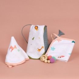 Fun in Forest Reversible Organic Wash Cloth - 3 pack