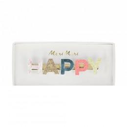 Happy Glitter Hair Clip