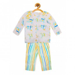 Cross and Knots Nightsuit - Boys