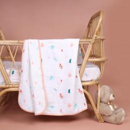 Pink Bunnies Organic Reversible Blanket