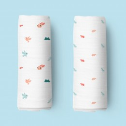 Pink Bunnies Organic Swaddle - 2 pack
