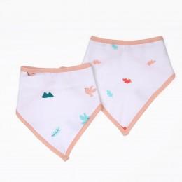 Pink Bunny Organic Bandana Bibs - 2 pack