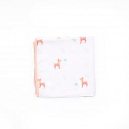 Pink Deer Organic Reversible Blanket