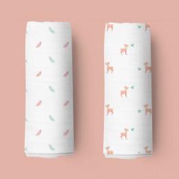 Pink Deers Organic Swaddle - 2 pack