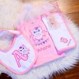 Pink Owl - 3 pc set