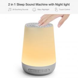 SLEEP THERAPY – Sound Machine, Night Light (With white sound)