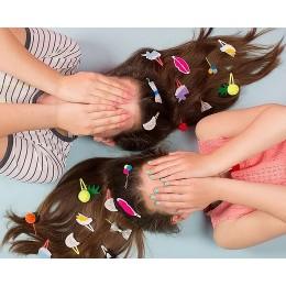 Emoji Enamel Hair Slides