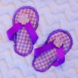 Flip-Flop Fun Purple Baby Bath - Zigzag