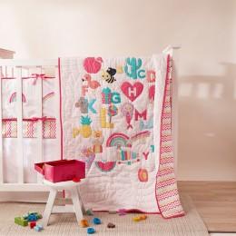 Alphabets Quilt - Pink