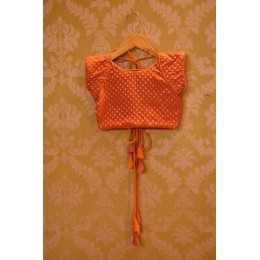 Benarasi Choli with An Orange Lehenga