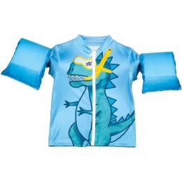 Blue Lil' Splashers Dinosaur Swim Shirt Floaties