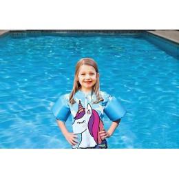 Blue Lil' Splashers Unicorn Swim Shirt Floaties
