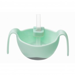 Bowl + Straw Set - Pistachio Light Green