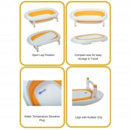 Bubble Double Elite Baby Bath Tub - Orange
