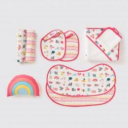 Bundle Of Love Organic Muslin Gift Hamper - Alphabets-Pink