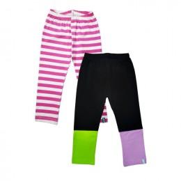 Colorblock Black - Set Of 2 Leggings