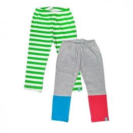 Colorblock Grey - Set Of 2 Leggings