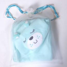 Cuddly Teddy - Blue Hooded Towel
