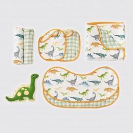 Favorite Essentials Organic Muslin Gift Hamper - Dinosaurs