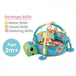 First Play Turtle Face Play Gym