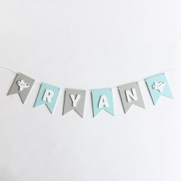 Flag Bunting - Blue and Grey