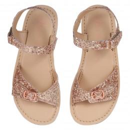 Gem Rose Gold Embellished Sandals