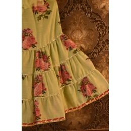 Green Floral Sharara Set