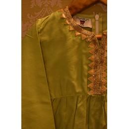 Green - Golden Sharara Set
