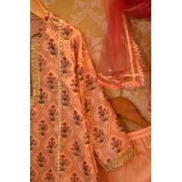 Mughal Jaal Sharara Set - Dusty Pink