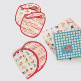 New Beginnings Organic Muslin Gift Box - Alphabets-Pink