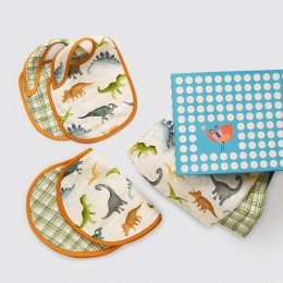 New Beginnings Organic Muslin Gift Box - Dinosaurs