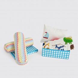 Night Night Crib Gift Set -  Alphabets-Blue