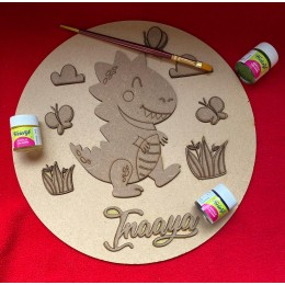 Paint your own Name Plate - Dinosaur