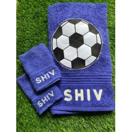 Personalised Towel and Napkin - Football Small