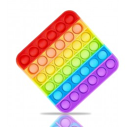 Push Pop Bubble Fidget Sensory Toy - Square Rainbow