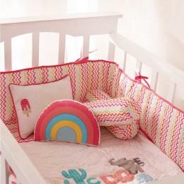 R For Rainbow Decorative Pillow
