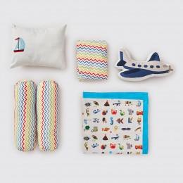 Rockabye Baby Crib Gift Hamper - Alphabets-Blue