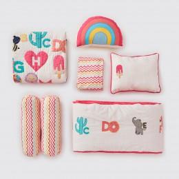 Rockabye Baby Crib Gift Hamper -  Alphabets-Pink