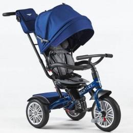 Sequin Blue Trike Toddler Tricycle 6 in 1 Air Wheel Children Buggy Pram